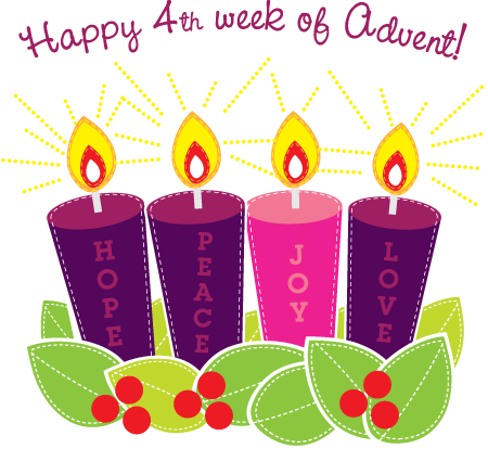 happy 4th week of advent clipart blessed sacrament. Black Bedroom Furniture Sets. Home Design Ideas