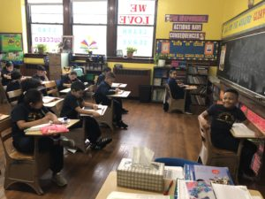 4th grade students in classroom